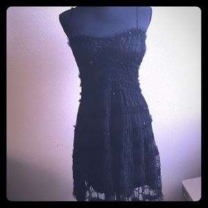 Black Cocktail Dress with Sequins & Tulle